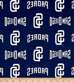 San Diego Padres MLB Cotton Fabric-$8.99/yard