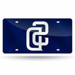San Diego SD Padres MLB Mirrored Laser Cut License Plate Las