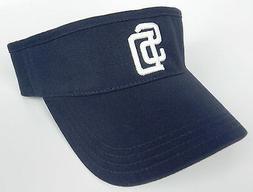 SAN DIEGO PADRES MLB NAVY BLUE ADJUSTABLE VISOR CAP HAT  BY