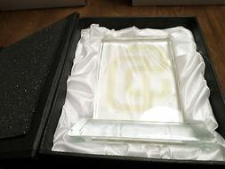 SAN DIEGO PADRES MVP CRYSTAL Paper Weight Satin Display Box