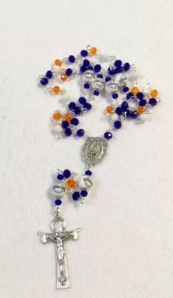SAN DIEGO PADRES ROSARY ORNAMENT NECKLACE JEWELRY GLASS BEAD