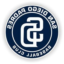 San Diego Padres Round Decal / Sticker Die cut