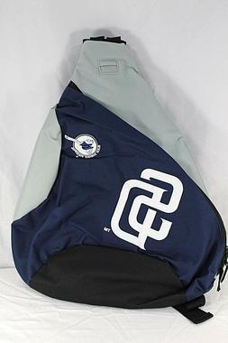 San Diego Padres Sling Backpack Teardrop Navy Blue /Gray