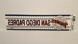 SAN DIEGO PADRES   Vintage Team Bumper Sticker  Decal Strip