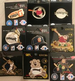 Set of 9 San Diego Padres Logo  Collector Pins BLOWOUT PRICE