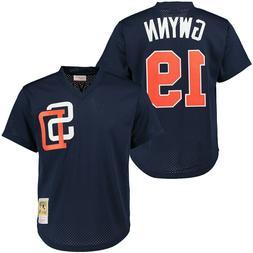 Tony Gwynn #19 San Diego Padres Men's M&N Navy Cooperstown J